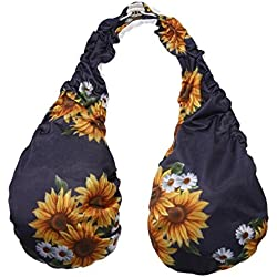 FINIFLY Comfortable and Breathable Women Boob Bra Sexy Soft Ta-Ta Towel Dripping Bra Halter Top(Sunflower)