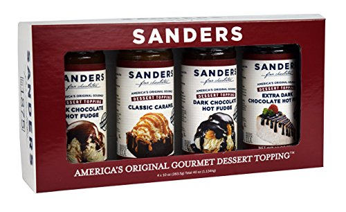 Hot Fudge Ice Cream Topping - Sanders Sundae Best Gift Box, 4 Flavor Assortment, 40-Ounce Net Wt.