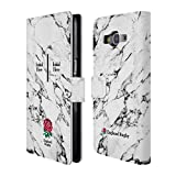 Custom Customized Personalized England Rugby Union 2017/18 White Marble Rose Leather Book Wallet Case Cover For Samsung Galaxy Grand Prime
