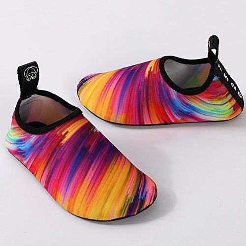 Fletion Multicolore Rapide Gymnase Aquatique De Et Dans Pieds Plage Chaussons Séchage Chaussures Yoga Chaussettes Piscine Plongée Unisex Nus Sport FqrFUw