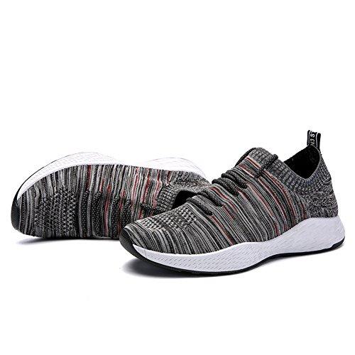 Gray Mocassini Red EU Uomo Shufang 40 shoes waqCxt8A