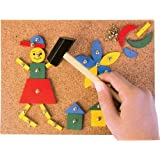 Tobar Tap Tap Art Cork Board Wooden Pieces Hammer And Nail