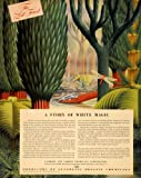 1940 Ad Synethic Orange Carbide Carbon Chemical Lizard - Original Print Ad