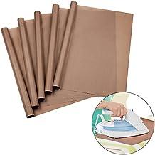 URGEAR PTFE Teflon Sheets for Heat Press Transfers, 100% Non Stick Heat Resistant Craft Mat 16 x 20 Inch-[5 Pack]