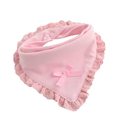 originaltree bebé niños baberos bebé recién nacido baberos redondo triángulo toalla de saliva para guardería rosa rosa Talla:Triangle