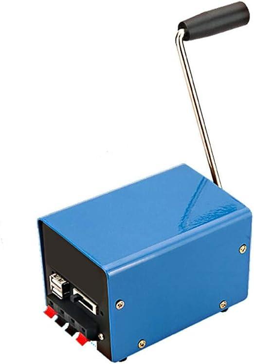 Caricabatterie portatile USB a manovella di emergenza per