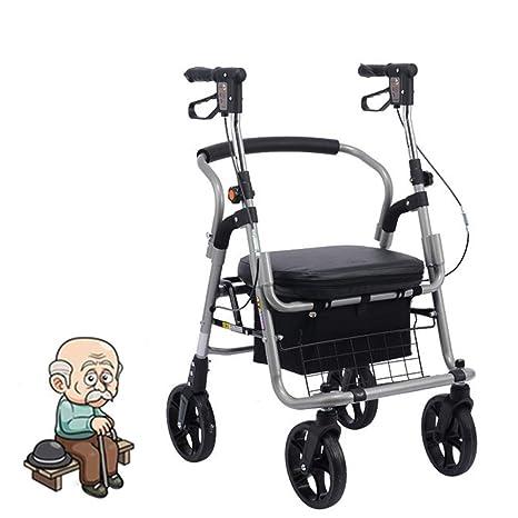 OLDHF Andador para Adultos Silla De Ruedas Plegable Trolley ...