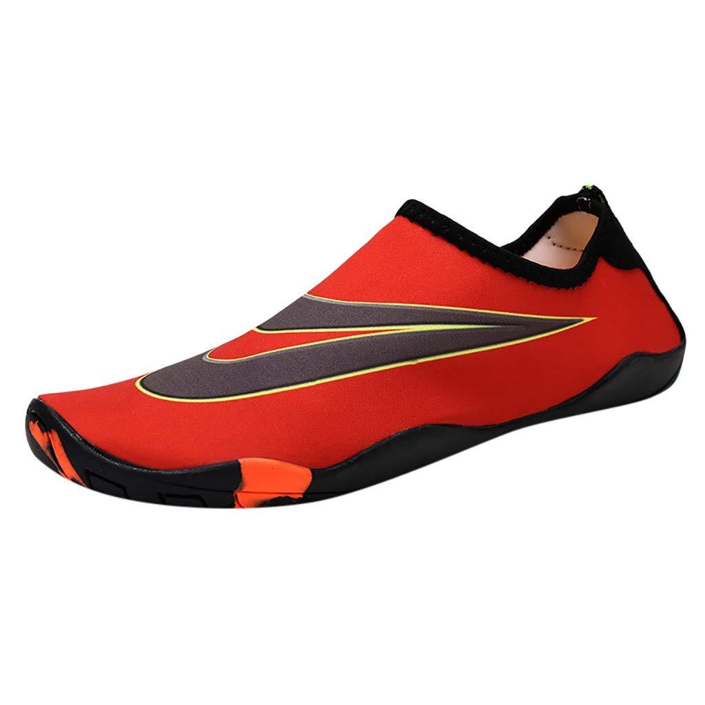 Bluestercool Unisexes Chaussures Aquatiques Aux Pieds Nus Été Fashion Sandales de Plage Chaussons de Natation Flip Flops Aqua Shoes à Séchage Rapide