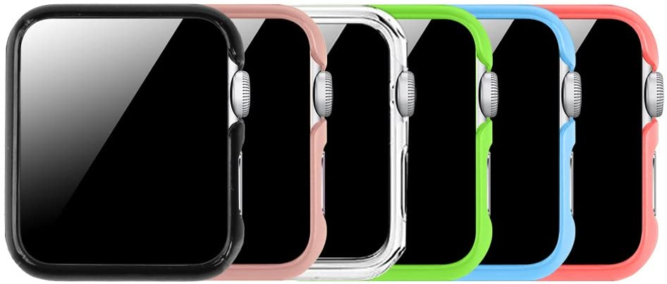[6 Color Pack] Fintie Case Compatible with Apple Watch 38mm, Slim Lightweight Hard Protective Bumper Cover Compatible with All Versions 38mm Apple Watch Series 3/2/1