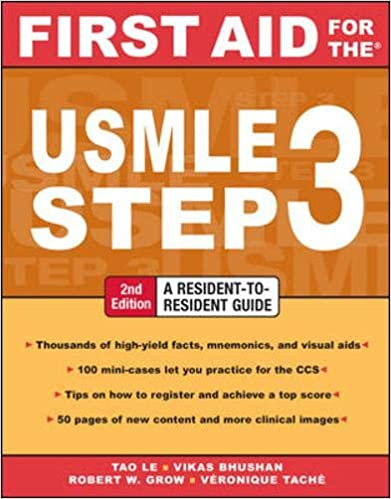 First Aid For The Usmle Step 3 Second Edition First Aid Usmle 9780071487962 Medicine Health Science Books Amazon Com