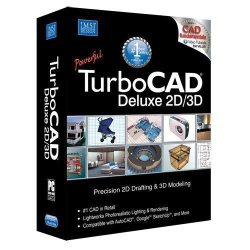 TurboCAD Deluxe 19 2D Design & 3D Modeling CAD Software