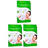 Facial Tissue Mask - 3 Packs Nu-Pore Collagen Essence Facial Tissue Masks Aloe Cucumber Skin Care 6pc