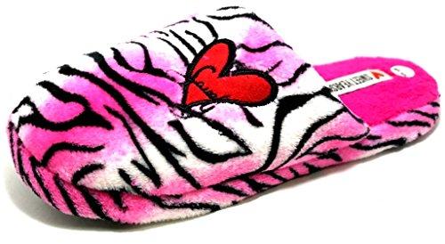 Sweet Years Damen Hausschuhe Pink Fuchsia 37