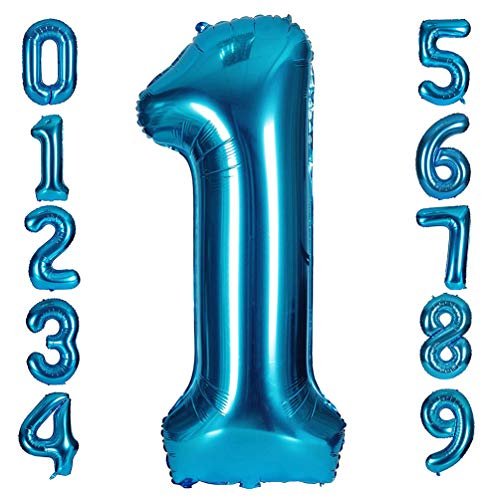 Tellpet Navy Blue Number 1 Balloon, 40 Inch ()