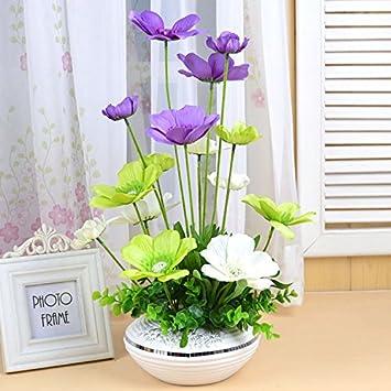 JHDH2 Künstliche Blume Set Klimaanlage Im Wohnzimmer Dekoration Blumen  Tisch Couchtisch Fertig Dekorative Blumen Seidenblumen