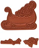 Heartfelt Creations Ornate Sleigh Cling Rubber Stamp