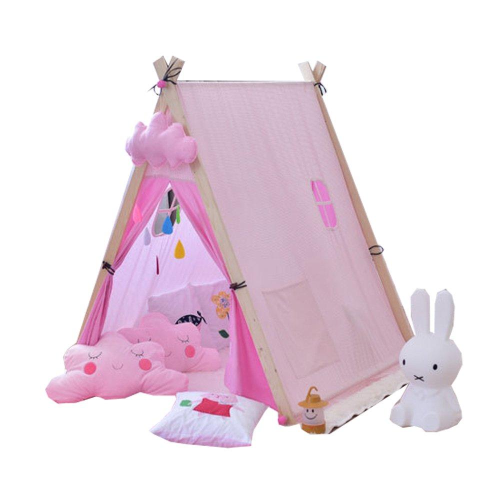 YHJM 小さなフレッシュコットン ピンクテント 赤ちゃん用 子供用 おもちゃの布テント 誕生日プレゼント 子供のテント B07GBKD3Y5