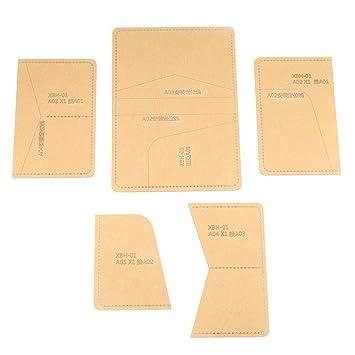 Plantilla de acrílico hecha a mano para pasaporte, para bricolaje, cartera, piel,