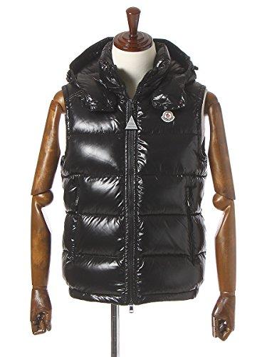 (モンクレール)MONCLERナイロン100%胸ロゴワッペンフード付きフルジップダウンベストLACET[【MCLACET6】]ブラック(999)/S[並行輸入品]
