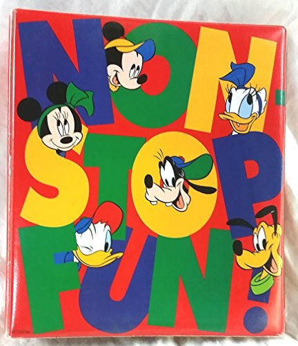 Disney Non-Stop Fun! Style Guide large Notebook of the 6 Main Characters - Mickey Mouse, Minnie Mouse, Donald Duck, Daisy Duck, Goofy, Pluto with Character Line Art