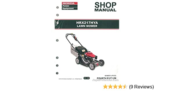 61vh700hyae3 Honda Hrx217 Hya Lawn Mower Repair Service Shop Manual Rh  Amazon Com HRX217TDA Parts Diagram Honda HRX217HXA Parts Diagram