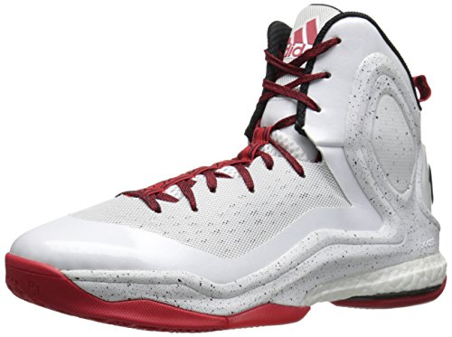 watch 67813 b9585 adidas Performance Men s D Rose 5 Boost Basketball Shoe, White Scarlet Grey  Black, 8.5 M US - Buy Online in UAE.   Apparel Products in the UAE - See  Prices, ...