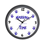 CafePress – Massage Time Handprints – Unique Decorative 10″ Wall Clock For Sale