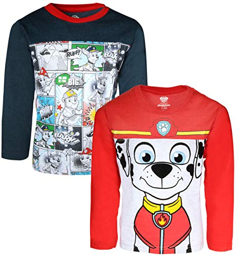 Nickelodeon Paw Patrol Boys Long Sleeve T-Shirt, Pow!! Marshall, Size 7' by Nickelodeon