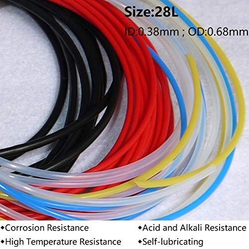 28L ID 0.38mm x 0.68mm OD F4 Insulated PTFE Tubing Capillary Teflon Protect Rigid Pipe Corrosion Resistance - (Color: Clear)