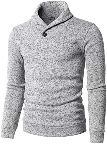 c41c11abb5 H2H Mens Casual Slim Fit Pullover Sweaters Knitted T-Shirts Thermal Napping  Inside of Various