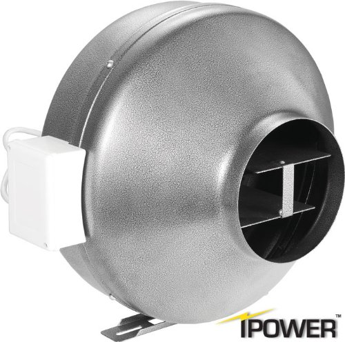 iPower 4 Inch 190 CFM Inline Duct Ventilation Fan HVAC Exhaust Blower for Grow Tent, Grounded Power Cord