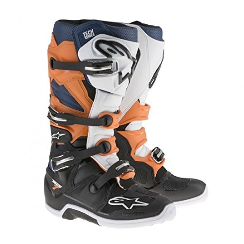 Alpinestars Tech 7 Mens Motocross Boots - Orange/Blue - 11