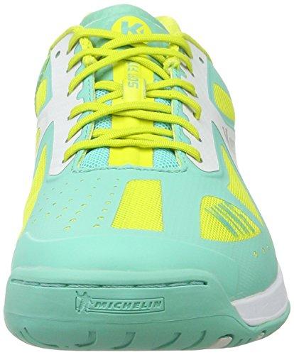 Para Zapatillas Turquesa jaune Wing Mujer Spring Balonmano De turquoise Kempa Lite Women qY8t8