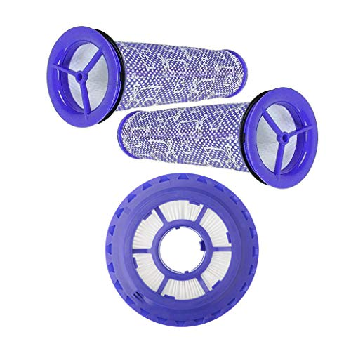 Lemige 1 Pack HEPA Post Filter & 2 Pack Pre Filters Replacement for Dyson DC65 DC66 DC41 Animal, Multi Floor and Ball Vacuums, Compare to Part #920769-01&920640-01