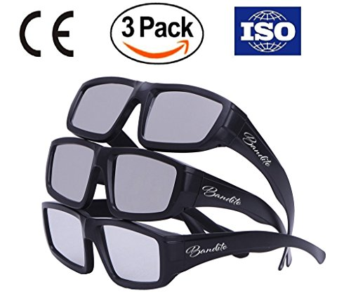 Professional Solar Eclipse Glasses - CE and ISO Certified, Safe for Great American Total Solar Eclipse , Safe Sun Viewing, All Ages, One Size Fits All, August 21, 2017 (3 Pack - Plastic Set)