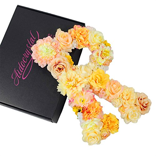 Floral Letter (Handmade Wall Decor Floral Monogram Letter Made With Artificial Flowers (R))