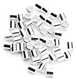 Cousin 2949406 50 Piece Crimp Bead, 2mm, Sterling Silver