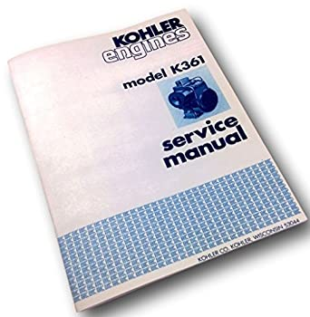 amazon com kohler engines model k361 service shop repair manual rh amazon com Kohler K361 Block 18 Horse Kohler Engine