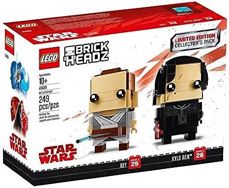 Amazoncom Lego Brickheadz Limited Edition Star Wars Rey And Kylo
