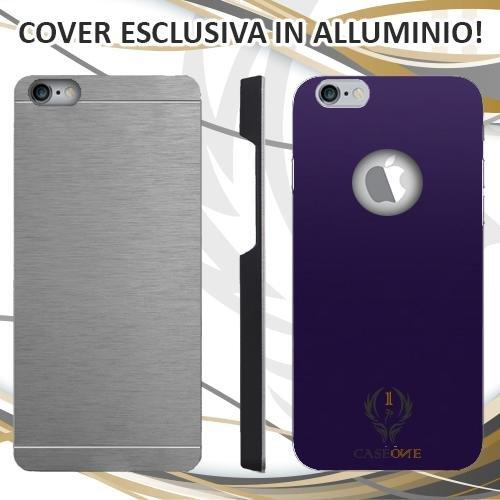 CUSTODIA COVER CASE FIORENTINA PER IPHONE 6 PLUS IN ALLUMINIO