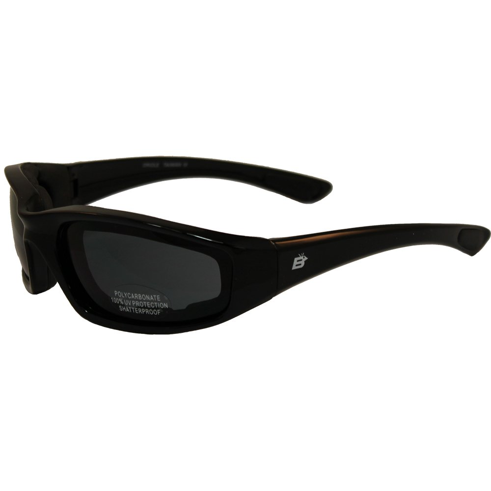 Birdz Oriole Motorcycle Padded Glasses Smoked Anti Fog Has Comfortable Foam Padding on the Entire Inside of the Glasses to Fit Snug to Your Face and Protect Against Wind and Dust.