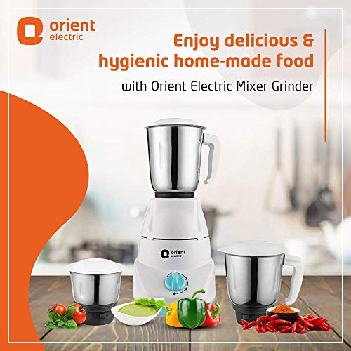 Orient Electric Kitchen Kraft MGKK50B3 Mixer Grinder, 500W, 3 Jars