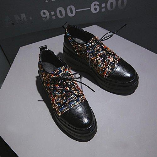 Chaussures Femme A0421 Ville KJJDE à de Chaussures en Plateformes WSXY Black rngrHaFC