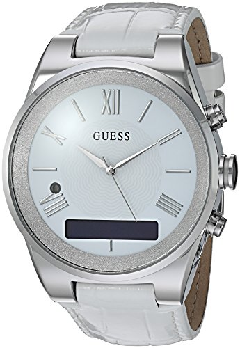 Cheap GUESS Women's Stainless Steel Connect Smart Watch – Amazon Alexa, iOS and Android Compatible, Color: Silver (Model: C0002MC1)