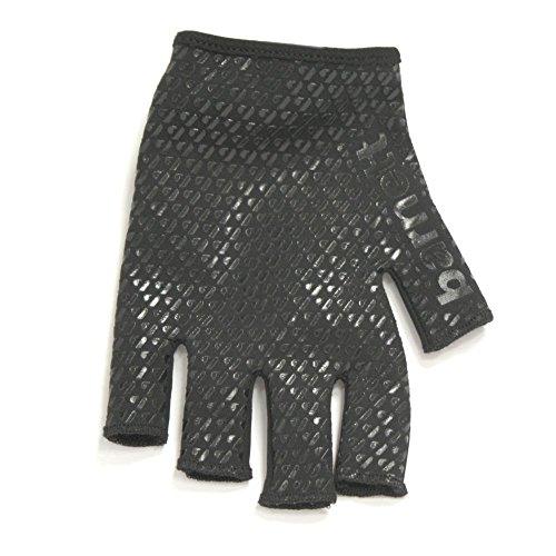 RBG-01 Fingerless Rugby Glove Fit, Black, barnett