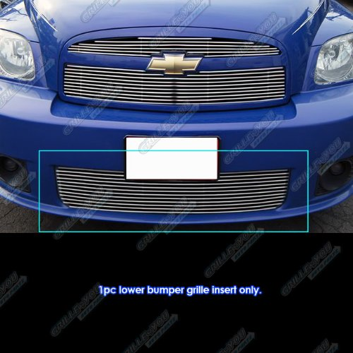 (APS Compatible with 2006-2010 Chevy HHR SS Bumper Billet Grille Grill Insert S18-A24966C)