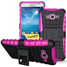 Galaxy Grand Prime Case, FoneExpert® Heavy Duty Rugged Impact Armor Hybrid Kickstand Protective Cover Case For Samsung Galaxy Grand Prime G530 G5308 + Screen Protector & Cloth (Pink)