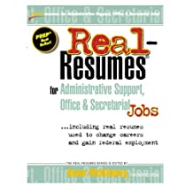 Real-Resumes for Administrative Support, Office & Secretarial Jobs