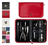 3 Swords Germany – brand quality 12 piece manicure pedicure grooming kit set for professional finger & toe nail care scissors clipper fashion leather case in gift box, Made in Solingen Germany (00217) Review