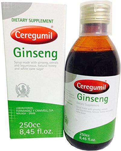 Extrait de la racine de Ginseng Panax Ceregumil pur Ginseng liquide 6 ans, 15mg de ginsénosides aide lutte physique & mentale Fatigue, Boost énergétique, rendement quotidien, Concentration et des réflexes naturels d'énergie supplément-non additifs ou
